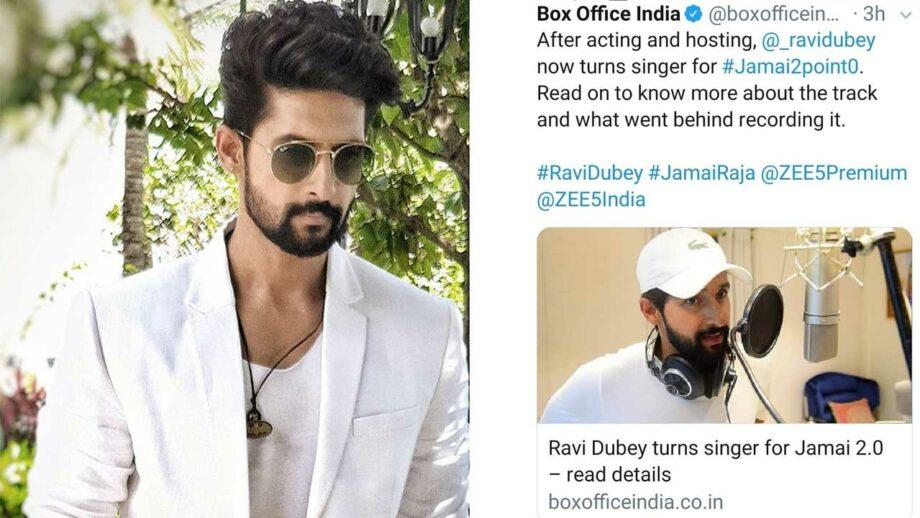 Jamai Raja actor Ravi Dubey turns singer