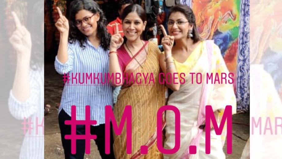 MOM actresses Sakshi Tanwar and Palomi Ghosh shoot for Kumkum Bhagya