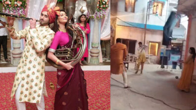 Mudit Nayar and Rishina Kandhari play gully cricket on Ishaaron Ishaaron Mein sets
