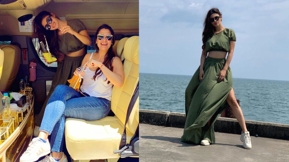 Naagin Mouni Roy lives it up on holiday with a close friend