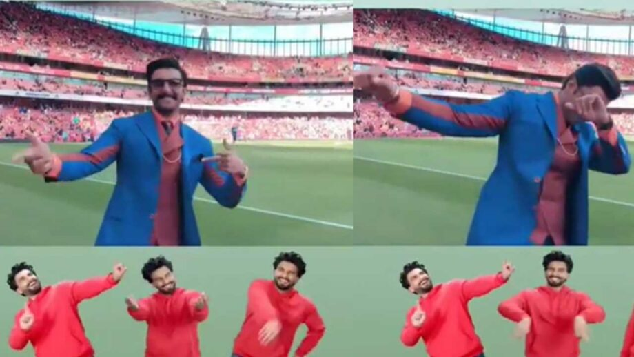 Ranveer Singh at Emirates Stadium