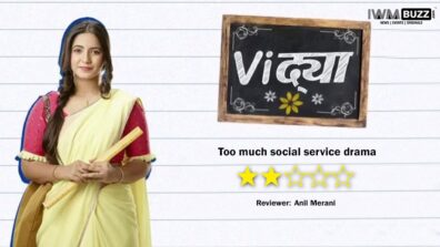 Review of Colors TV's Vidya: Too much social service drama