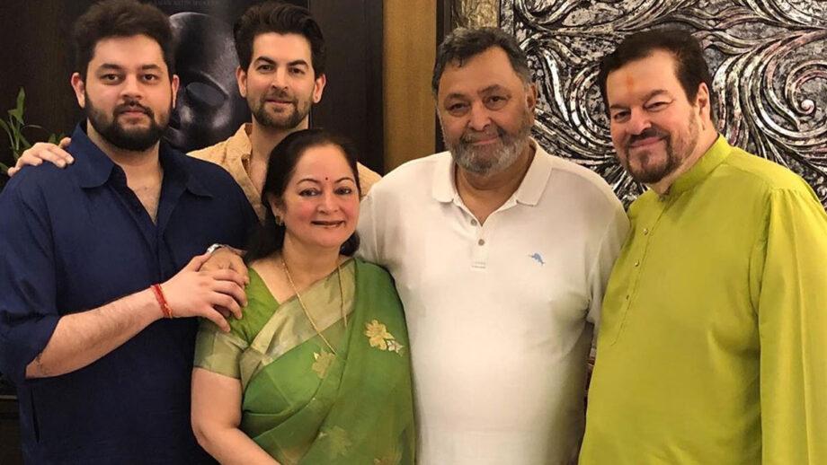 Rishi Kapoor meets Neil Nitin Mukesh's family