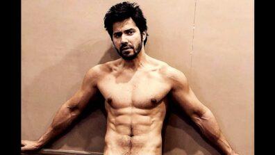 Varun Dhawan's latest shirtless pic displaying his chiseled back will make you go 'wooo'