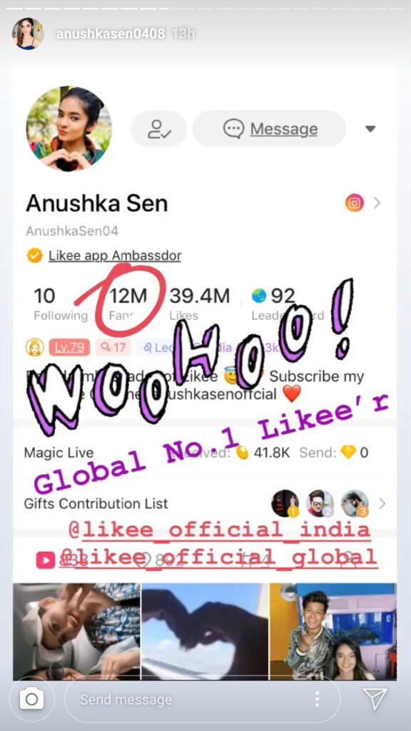 Anushka Sen is now a global star