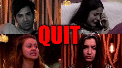 Bigg Boss 13: Devoleena, Shefali, Paras, Shehnaaz want to QUIT