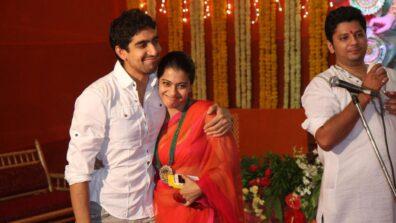 Kajol and Ayan Mukerji all smiles during Durga Puja Celebrations