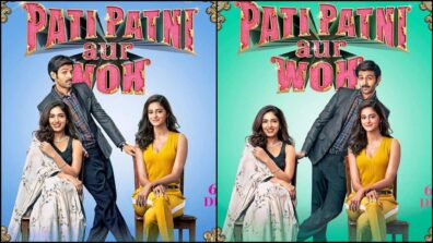 Kartik Aaryan swings both ways in the latest poster of Pati Patni Aur Woh