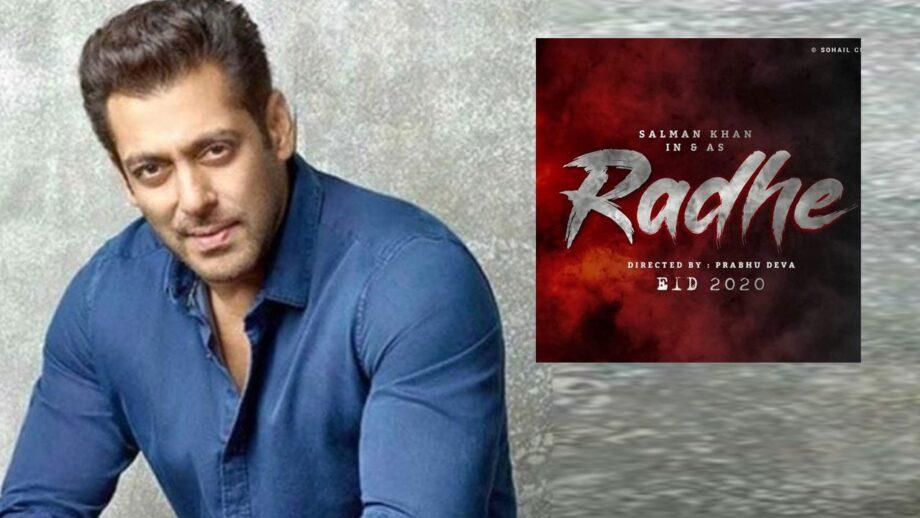 Salman Khan's Eid 2020 release Radhe to go on floors this November