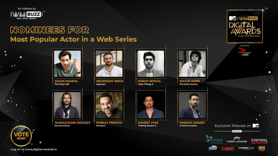 Vote Now: Who Is The Most Popular Actor In A Web Series? Nawazuddin Siddiqui, Pankaj Tripathi, Dhruv Sehgal, Mayur More, Sumeet Vyas, Arjun Rampal, Arunoday Singh, Vikrant Massey 1