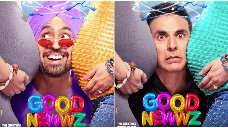 Akshay Kumar and Diljit Dosanjh are confused souls in Good Newwz poster