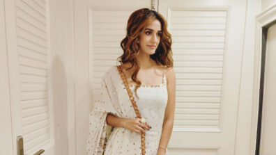Disha Patani goes traditional at the Radhe Muhurat Puja