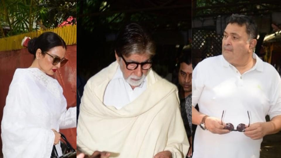 In Pics: Bollywood extends support at Shaukat Azmi's prayer meet 2