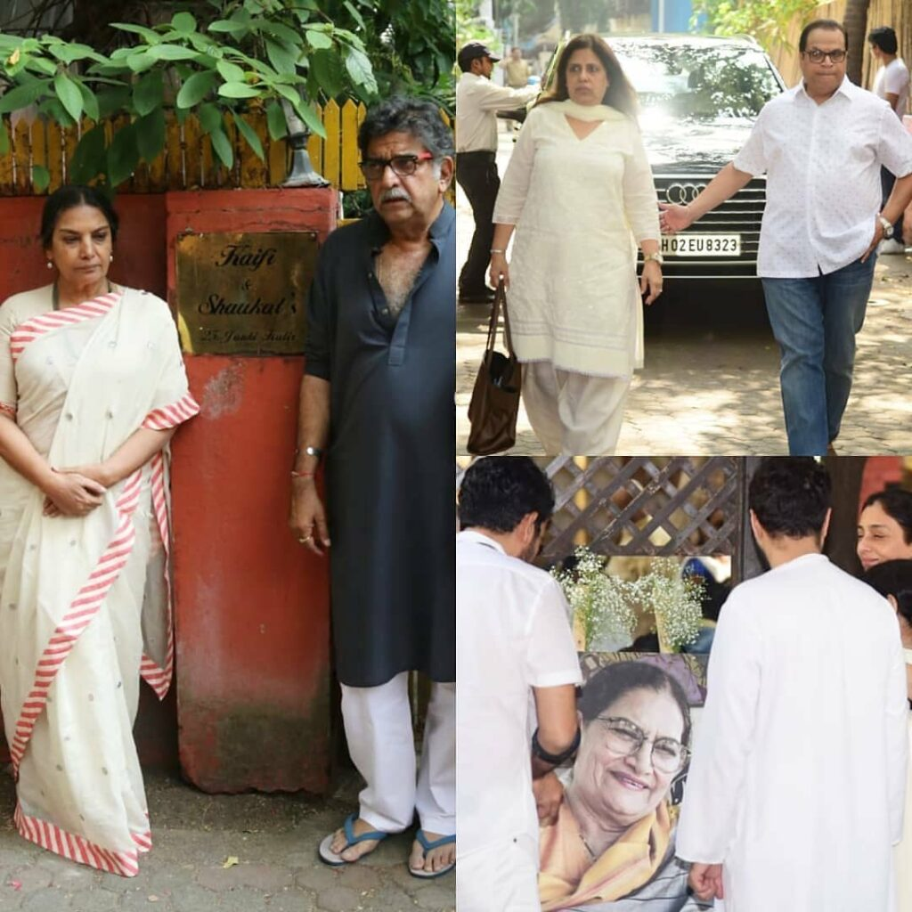 In Pics: Bollywood extends support at Shaukat Azmi's prayer meet 4