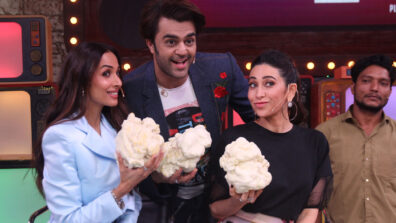Malaika Arora and Karisma Kapoor grace the stage of Movie Masti with Maniesh Paul 14