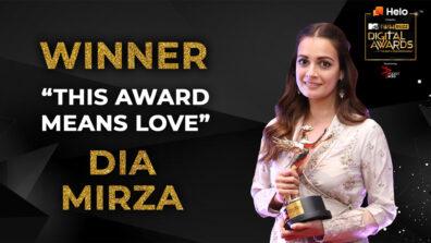 The Award is love - Dia Mirza