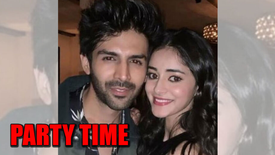 Ananya Panday and Kartik Aaryan's party moments caught on camera