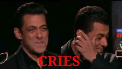 Bigg Boss makes host Salman Khan cry