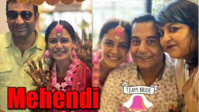 Bride-to-be Mona Singh is positively glowing in her Mehendi 2