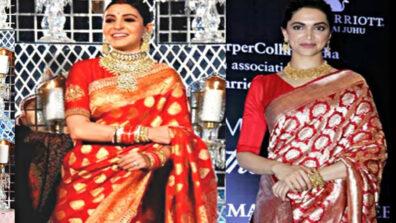 Deepika Padukone and Anushka Sharma: Who Looks Stunning in a Banarasi Saree?