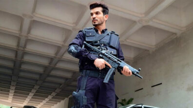 LEAKED picture of Arjun Bijlani with a Machine Gun from a web series has got us excited!
