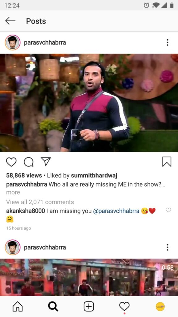 Someone's missing Paras Chhabra in the Bigg Boss House, and it's THIS!