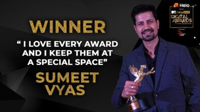 Sumeet Vyas shares his love for awards