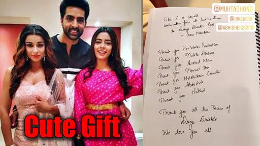 Twitter fans of Divya Drishti send a cute gift to the team