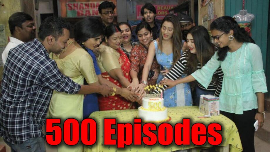 We are grateful to our audience for 500 episodes of Jijaji Chhat Per Hain: Hiba Nawab and Nikhil Khurana