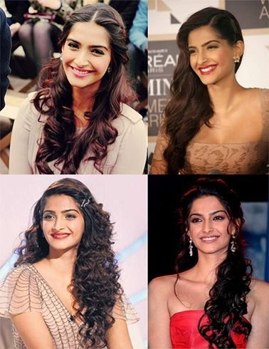5 Quick and Simple hairstyles of Sonam Kapoor 1