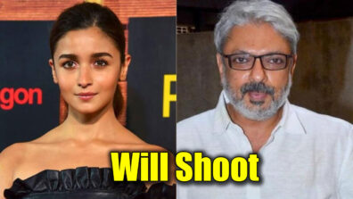 Alia Bhatt shooting for Sanjay Leela Bhansali
