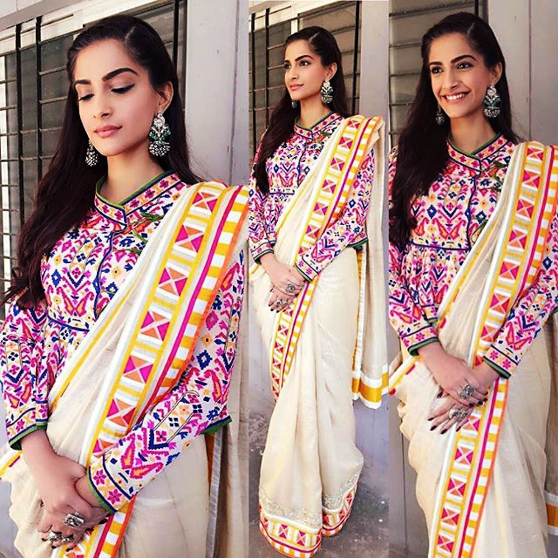 Beautiful sarees on Sonam Kapoor makes her look more stunning than ever 1