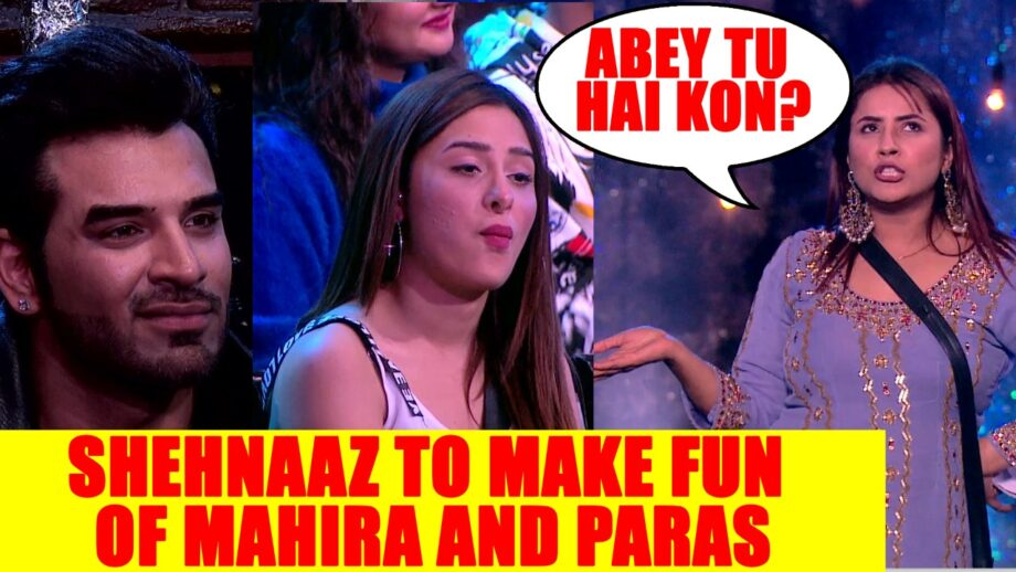 Bigg Boss 13 Shehnaaz To Make Fun Of Mahira And Paras Iwmbuzz