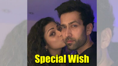 Drashti Dhami kisses and wishes best friend Nakuul Mehta