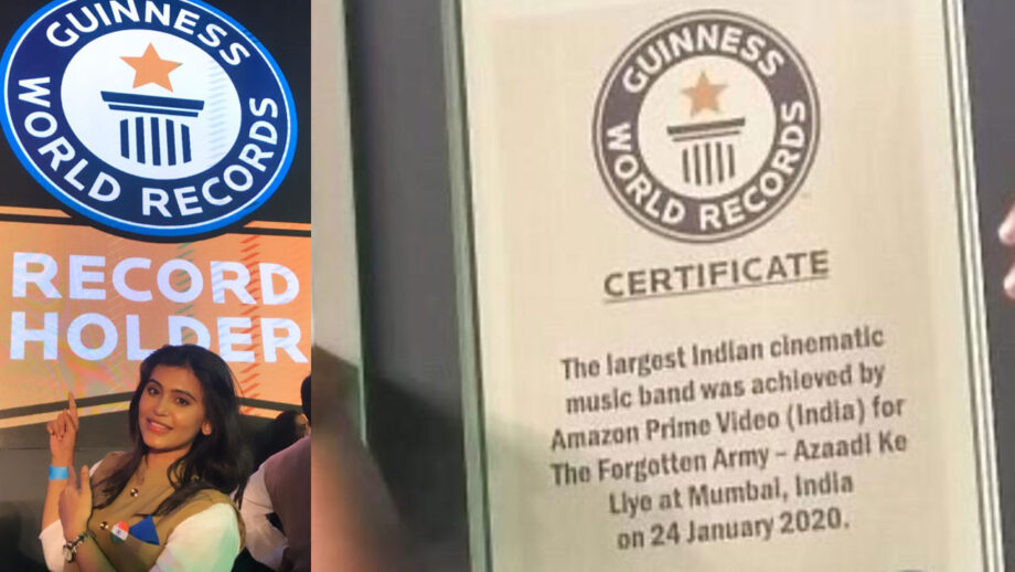 I am happy to be part of Amazon Prime's Guinness World Record achievement for The Forgotten Army: Haelyn Shastri