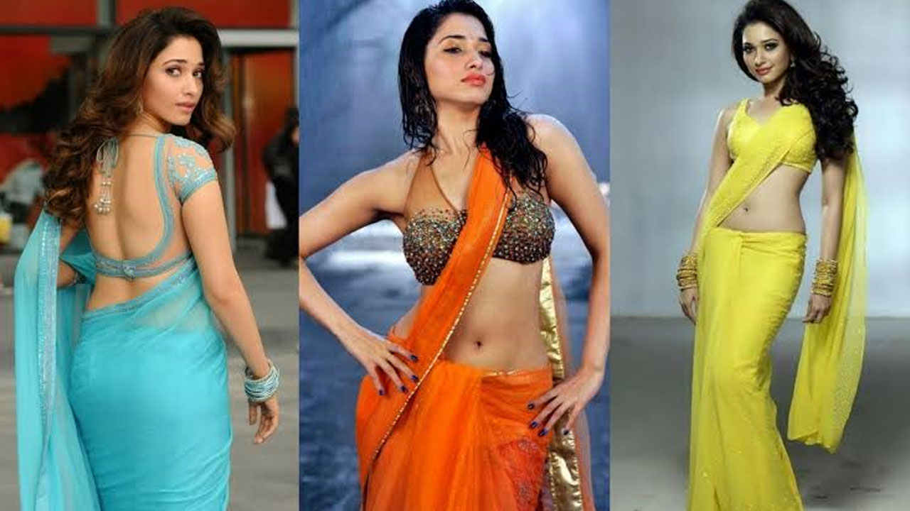 In Pics: Tamanna Bhatia HOTTEST saree looks | IWMBuzz