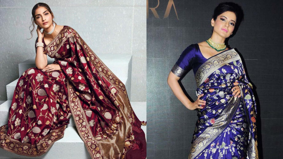 Kangana Ranaut Vs Sonam Kapoor: Who Looks Stunning In the Banarasi Saree?
