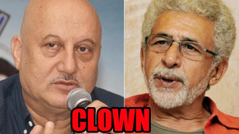 Naseeruddin Shah LASHES at Anupam Kher, calls him a 'Sycophant Clown'