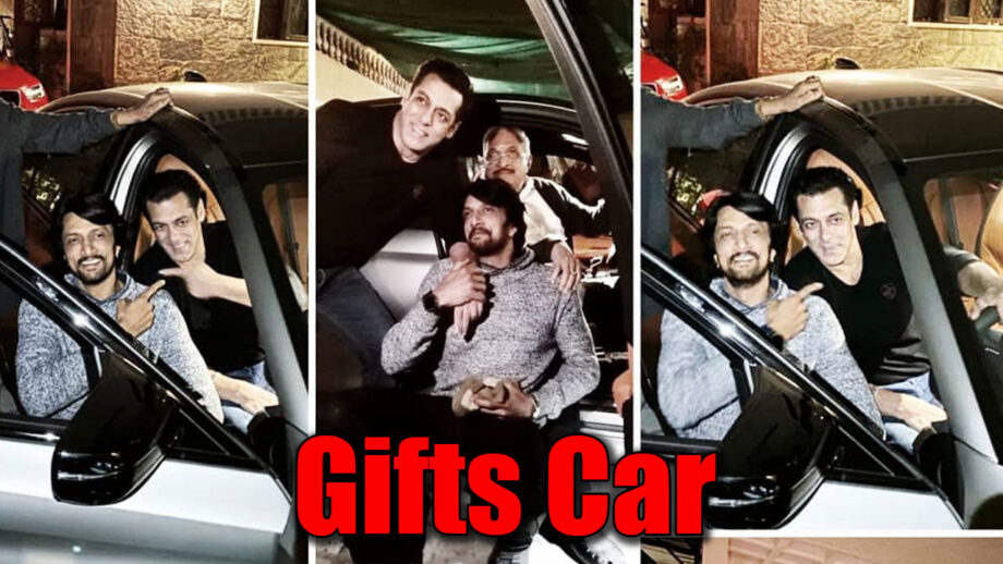 Salman Khan Surprises Dabangg 3 Co-Star Kichcha Sudeep With A BMW M5