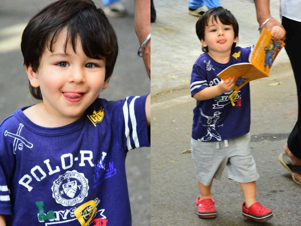 Taimur Ali Khan makes cute faces and is beyond adorable