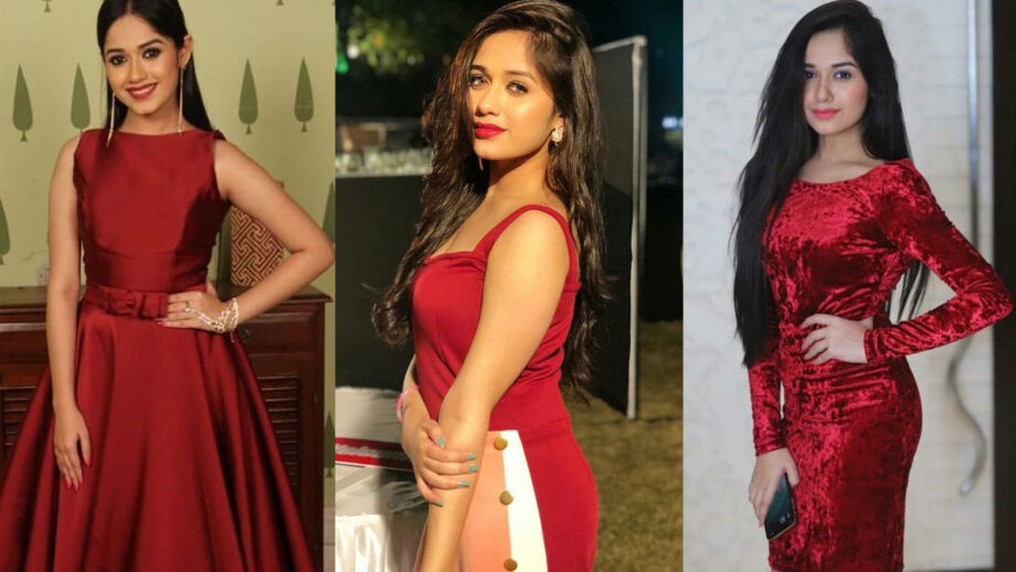 TikTok star Jannat Zubair stuns in red