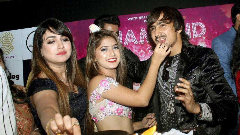 TV actor Arishfa Khan and Adnaan Shaikh launched their Diamond Ring song