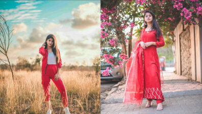 A RED ALERT glam look of Arishfa Khan