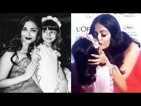 Adorable moments when Aishwarya Rai Bachchan kissed her daughter Aaradhya in public 3