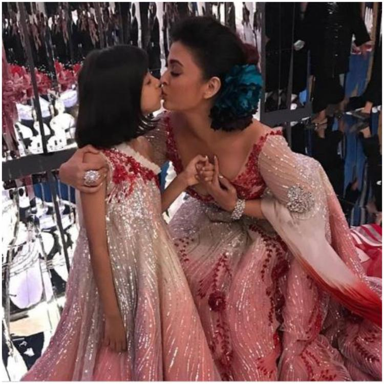 Adorable moments when Aishwarya Rai Bachchan kissed her daughter Aaradhya in public