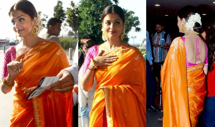 Aishwarya Rai Bachchan and Priyanka Chopra Jonas: Who looks attractive and gorgeous in a Banarasi saree? 4