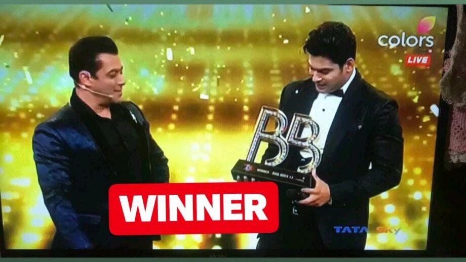 Congrats: Sidharth Shukla wins Bigg Boss 13 1