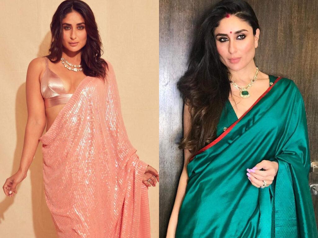 Karisma Kapoor Vs Kareena Kapoor in Manish Malhotra saree. Who wore it better?