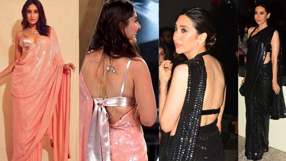 Karisma Kapoor Vs Kareena Kapoor in Manish Malhotra saree. Who wore it better? 7