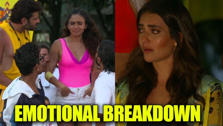 Khatron Ke Khiladi 10: Karishma Tanna and Amruta Khanvilkar's emotional breakdown